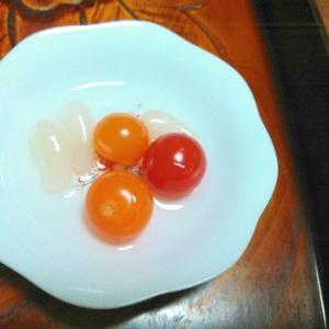 プチトマトとラッキョウのピクルス