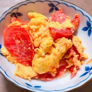 たまごとトマトの中華炒め