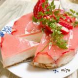 簡単時短!苺たっぷりムースケーキ
