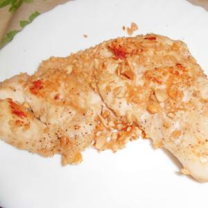 鶏むね肉の柿ピー焼き