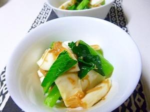 意外に合うね、小松菜とはんぺんの和え物