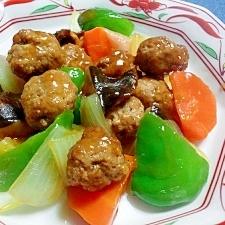 豆腐肉団子の酢豚風