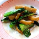 小松菜と竹輪のピリ辛炒め