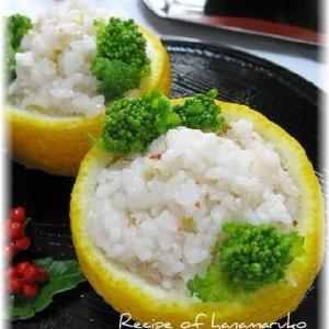 ほんのりいい香り柚子釜に菜の花の香り寿司
