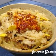 【韓国料理】ヤンニョムジャン&豆もやしご飯