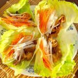 手巻き風、肉野菜サラダ