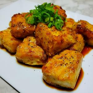 ガリバタ・サイコロ豆腐ステーキ