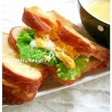デニッシュローフのいり卵サンド