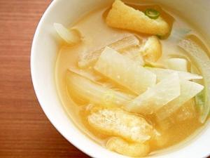 玉ねぎ・大根の味噌汁♪