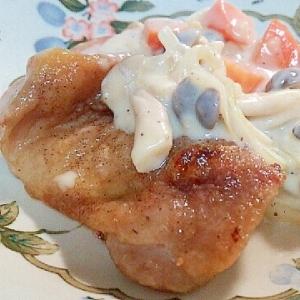 鶏もも肉のグリル焼き〜シチュー風ソースを添えて〜