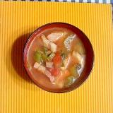 厚切りベーコンとセロリのトマトスープ♪
