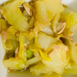 柔らか白菜とツナのサッと炒め♡