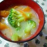 ブロッコリーとニンジンのゴマ味噌汁