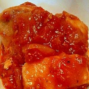 ☆鶏むね肉と玉ねぎのトマト煮込み☆