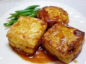鶏ミンチ入り豆腐の照り焼き