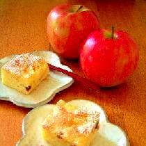 りんごとクルミがたっぷり入った手軽なお菓子