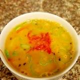 人参と豆腐の海老のビスクスープ