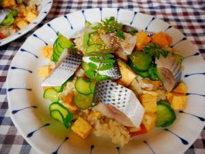 小肌と木の芽のちらし寿司