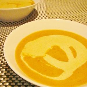 海老とカボチャのスープ