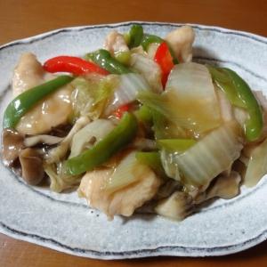 半端な野菜を使って!鶏むね肉と野菜のあんかけ炒め