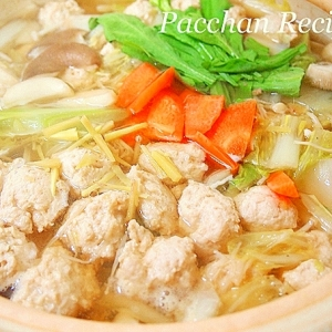 塩麹と金時生姜の絶品!鶏だんご鍋