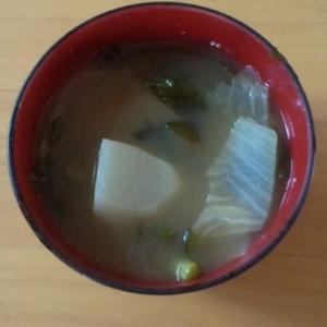 白菜とかぶの味噌汁