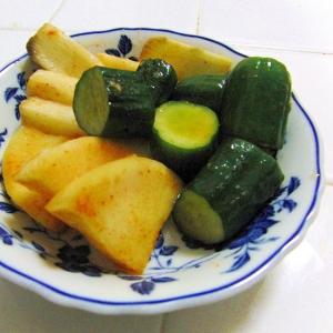 胡瓜と大根と長芋の簡単キムチ