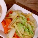袋ラーメンのスープであんかけ野菜炒め