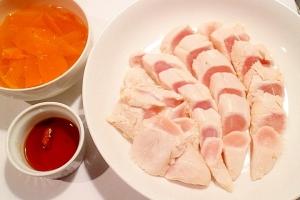 【超簡単】ササミの鳥刺しと香味スープ
