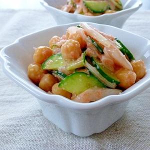 ひよこ豆の明太子サラダ