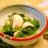 百合根と菜花のマスタード・マヨ和え