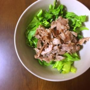 【簡単】韓国風ドレッシングの焼肉サラダ