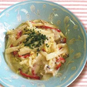 白菜のスキムミルク煮
