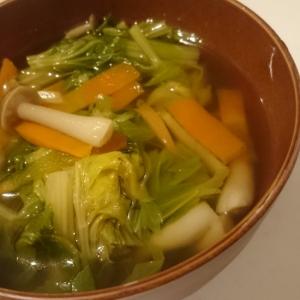 美肌効果「セロリの葉のスープ」♪