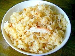 蟹すきに飽きたら、簡単!美味しい!濃厚蟹飯!