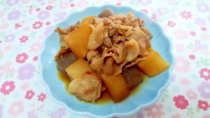 ばら肉と大根とこんにゃくの簡単炒め煮++