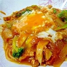 ウマ(/・ω・)/♥卵のっけのトマトソースパスタ