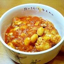 鶏肉と大豆のトマト煮♪
