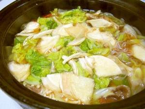 温まるせんべい汁♪青森の郷土料理♪