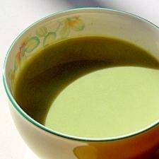 さっぱり軽い、酒粕入り緑茶ミルク