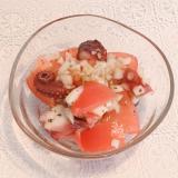 切って混ぜるだけ!簡単☆タコとトマトのバジルマリネ