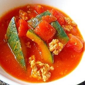 カボチャとトマトのスープ