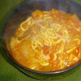トマト缶でトマト味噌ラーメン