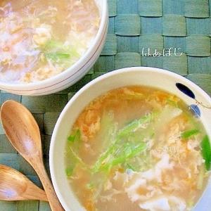 ライスペーパー入り♪中華風卵スープ
