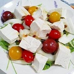 塩とうふと水菜のサラダ~♪