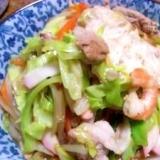 野菜どっさり、シーフードたっぷりの海鮮ちゃんぽん
