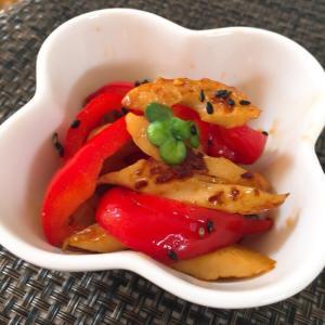お弁当の彩りに是非♬ パプリカと竹輪のきんぴら