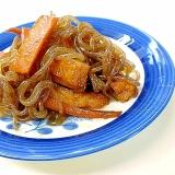 豆板醤で作る糸こんとさつま揚げピリ辛炒め