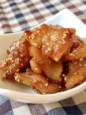 カリッとジューシー♫鶏皮の甘辛焼き