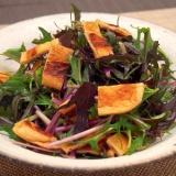 簡単節約!紫水菜と薄揚げのパリパリサラダ